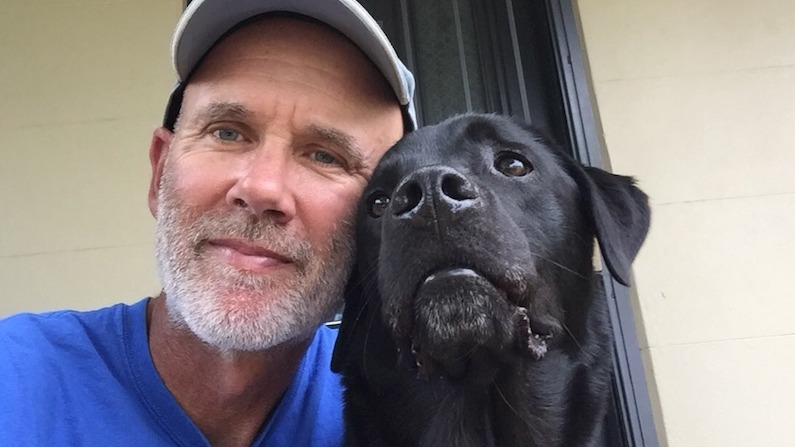 Profile of a middle-aged dad and dog owner, Robert Fairhead